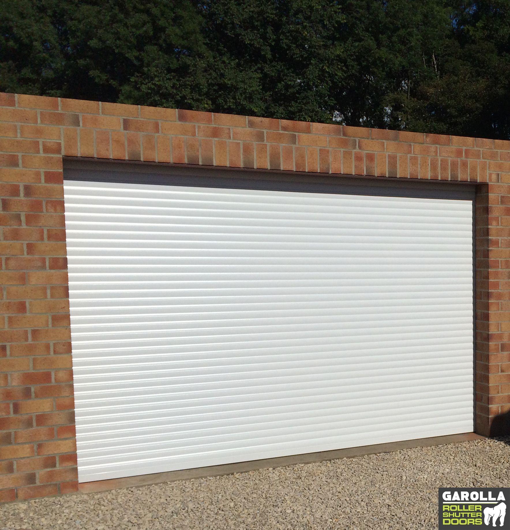Roller Shutter Garage Door In White Garage Doors Garage Doors Prices Doors