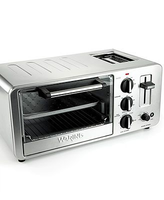 Waring Wto150 Toaster Oven 4 Slice With Built In Toaster