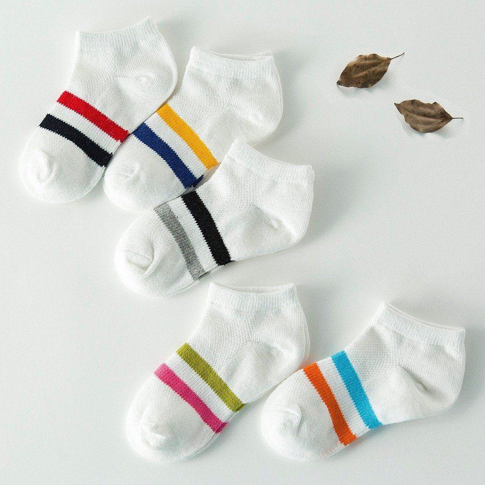 5 Paires//Set Lovely Cotton Kids Socks Fashion Sport Chaussettes Enfant Bébé Fille