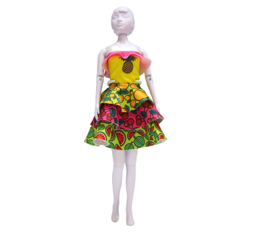 Zestaw do uszycia stroju Maggy Tutti Frutti , dziewczynka, ośmiolatek +, dziewczynka, siedmiolatek, Prezenty, kreatywne, edukacyjne, Zabawki - Lamalu.pl - dizajn malucha