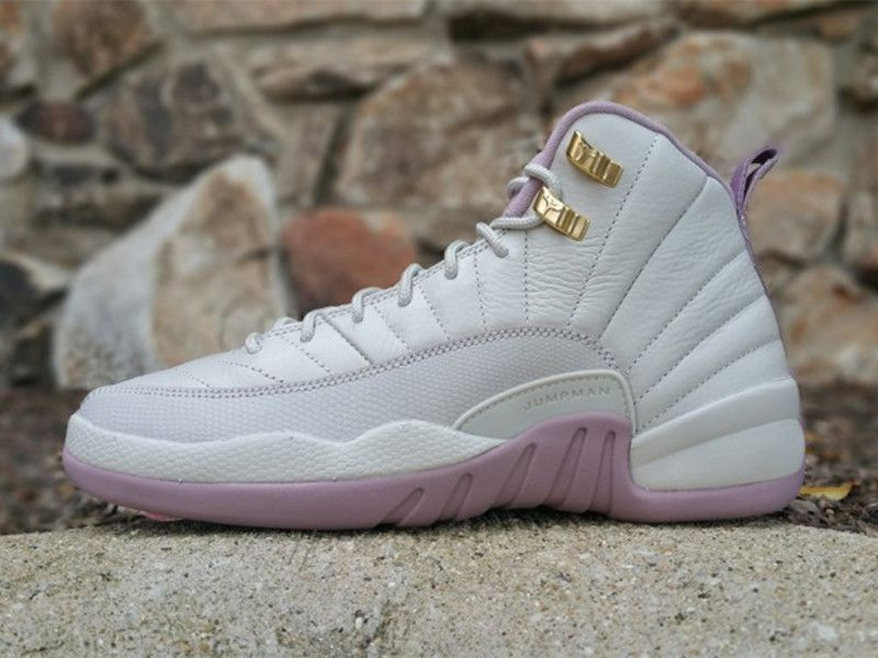 Here's a first look at the Air Jordan 12 GS Heiress Plum Fog that is  scheduled to release on September