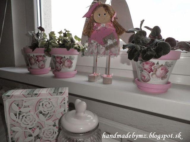 Handmade by Mirka&Zuzka: DECOUPAGE na kvetináčoch