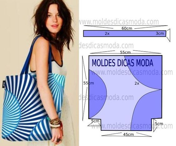 Moldes para hacer bolso de playa para mujer | Patrones de