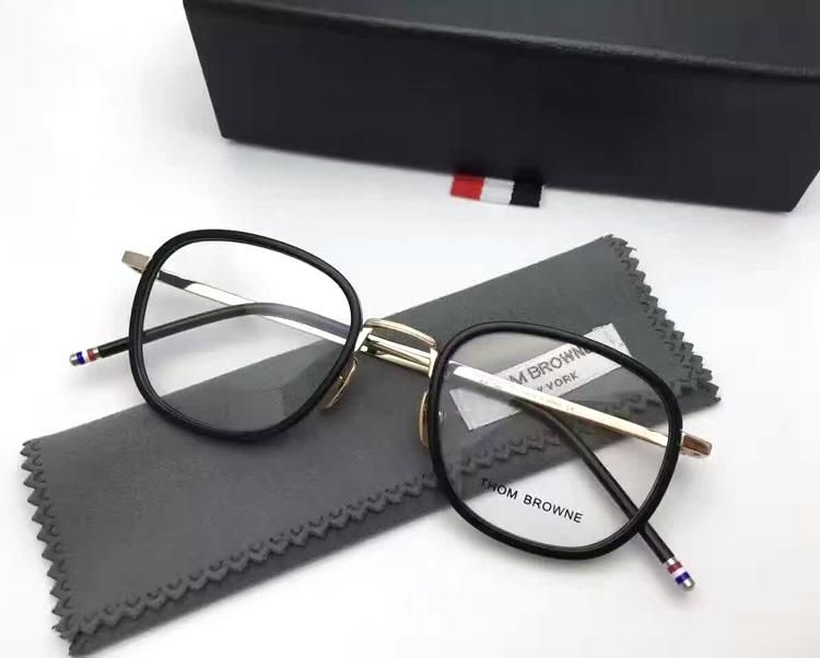 2017 Thom Browne eyeglasses TB-906 Retro glasses frame men women full frame  prescription eyewear frames oculos de grau with box 272271cf28