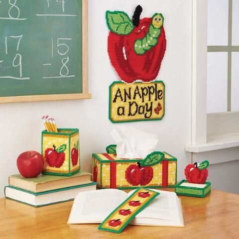 Craftways An Apple A Day Plastic Canvas Kit Plastic Canvas