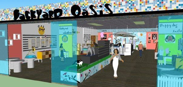 Interior Design Project at NAIT, Edmonton, Alberta, RetailPet Store, Graphics Sketchup and