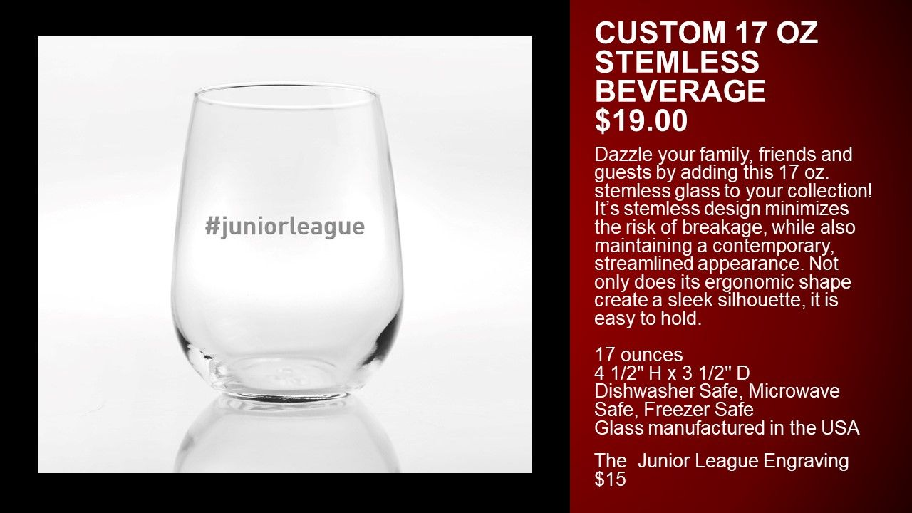 Pin By The Junior League On Jl Boutique Junior League Stemless Wine Glass Glass
