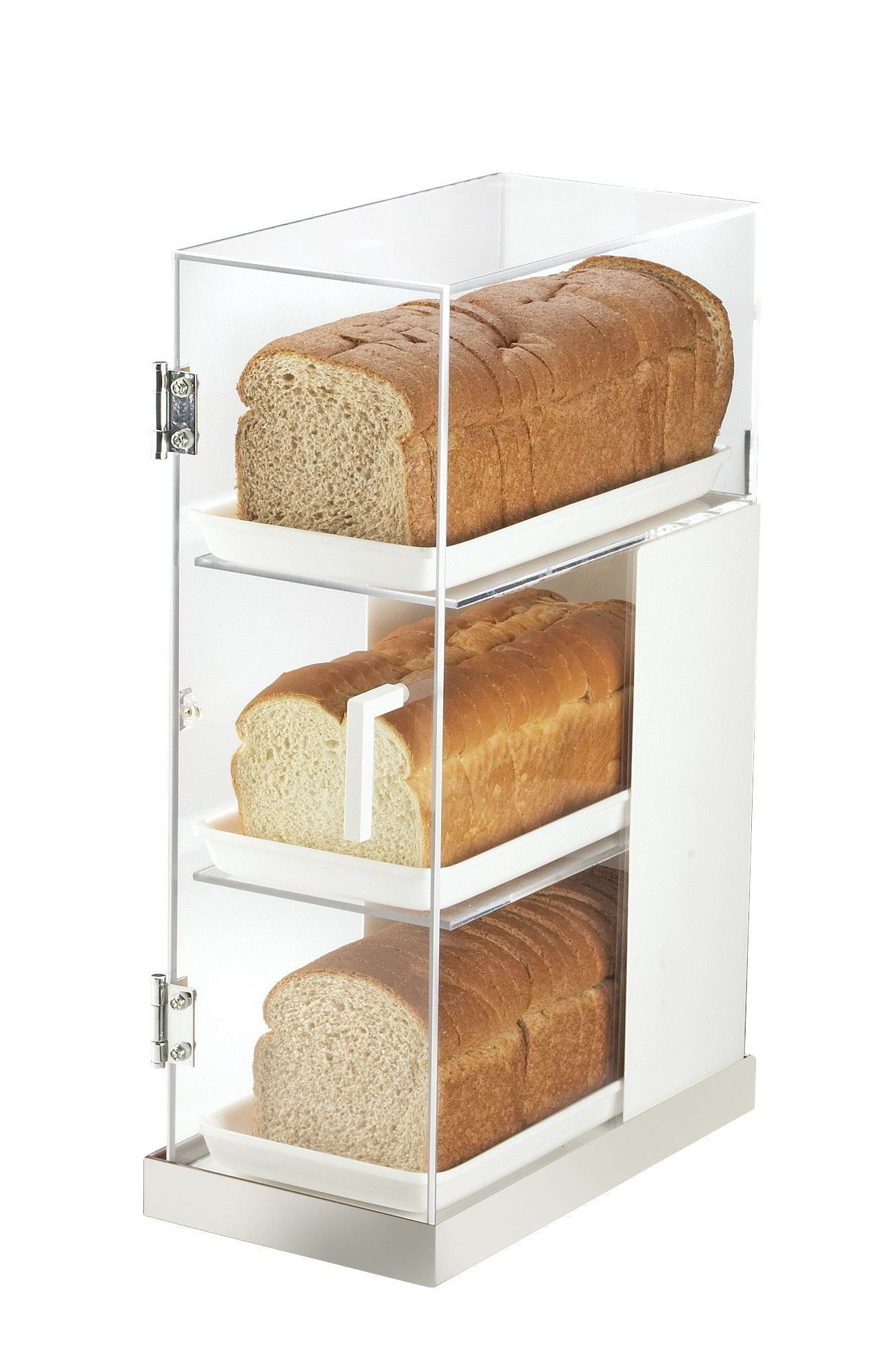 Luxe 3 Tier Bread Box Frost Display