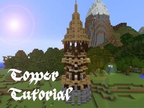 Minecraft Tower Tutorial Youtube Minecraft Architecture