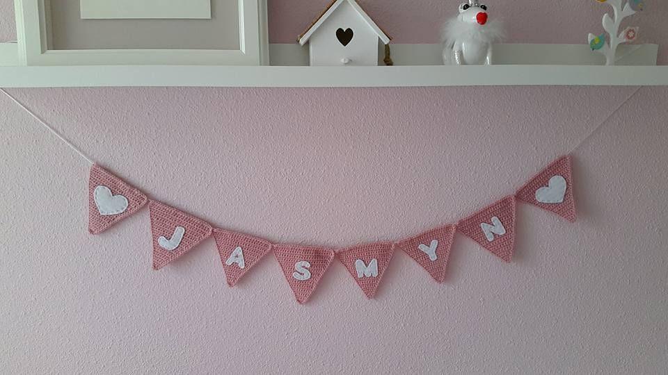 Crochet Vlaggenlijn Haken Naam Babykamer Pinterest