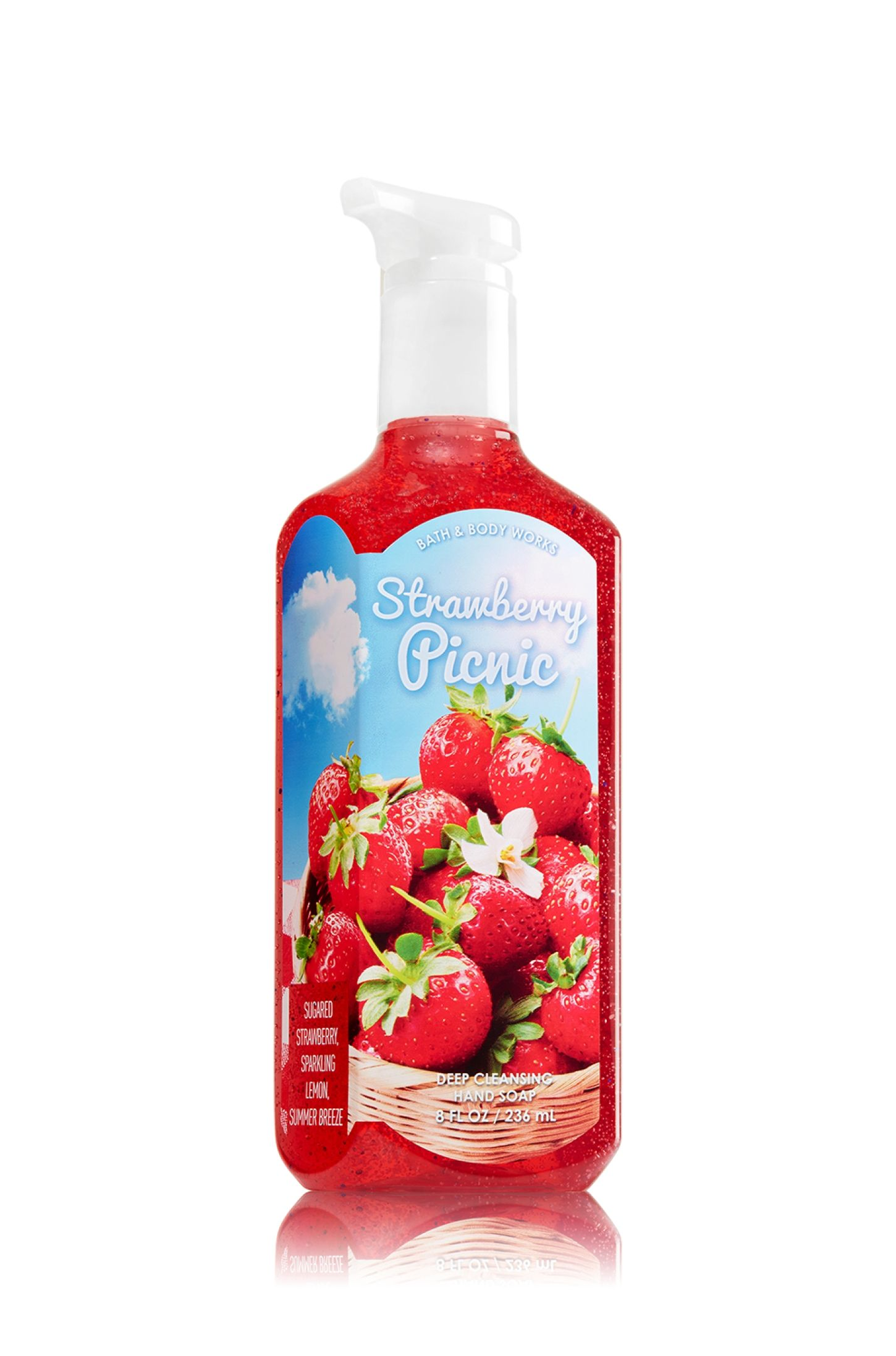 Bath Body Works Fresh Strawberries Anti Bacterial Hand Sanitizer