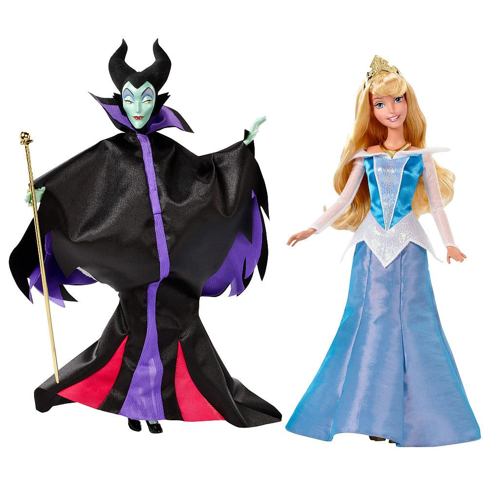 "Disney Store Authentic Maleficent Villain Toy Doll Figure 12/"" Sleeping Beauty"
