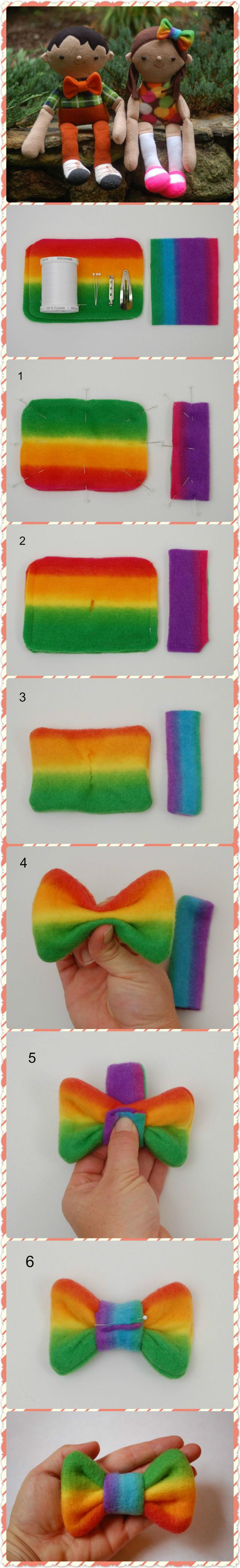 How to Make a Fleece Bow Tie.. Click www.welikecraft.com for more craft ideas!