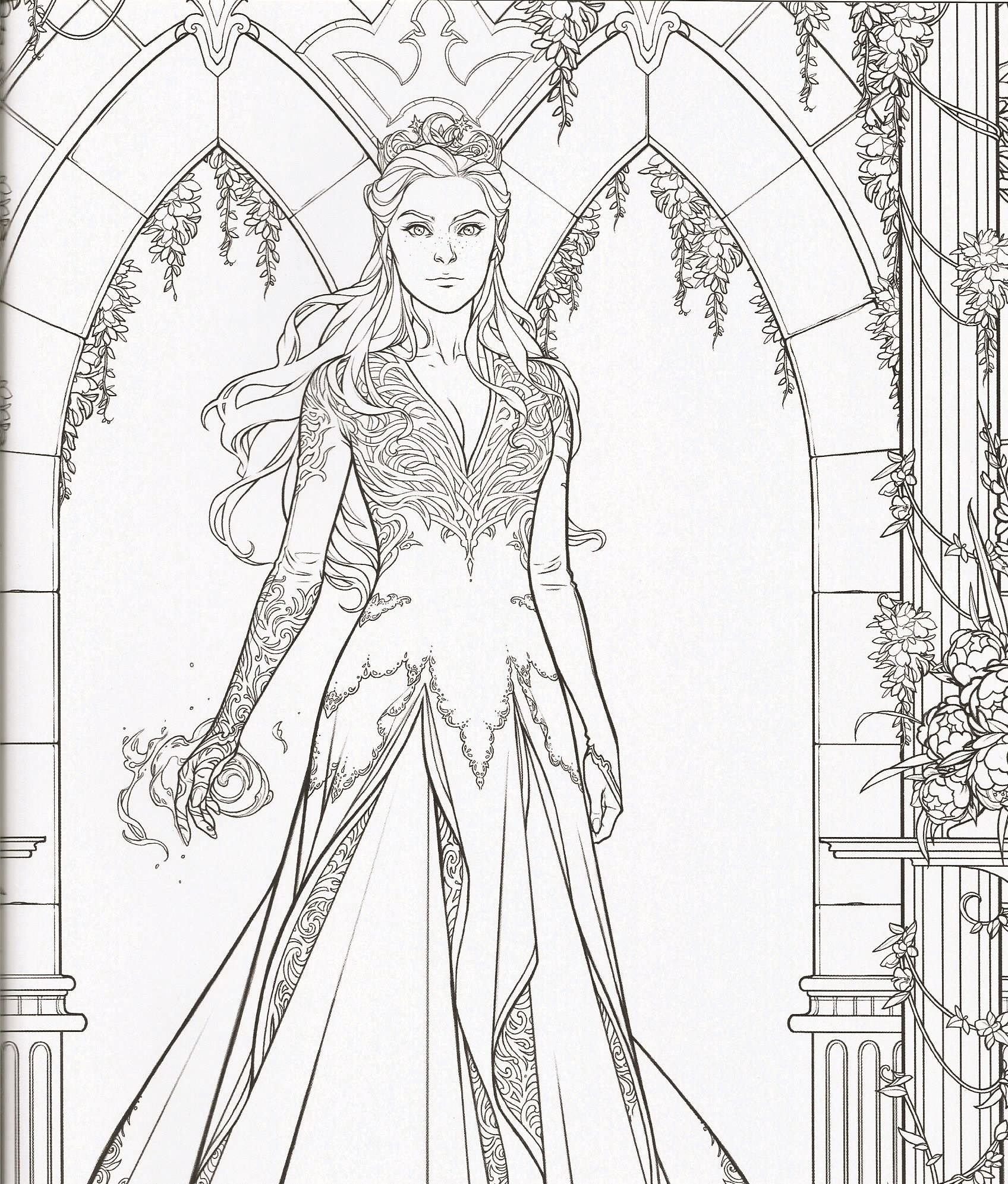 Pin on A court of thorns and roses coloring book