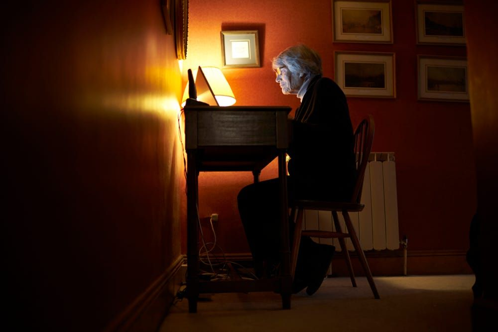 Senior Woman At Home Using Laptop Computer At Desk by Guerilla Images on 500px