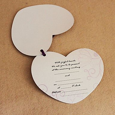 Awesome Heart Shaped Wedding Invitations Photos Best Hairstyles