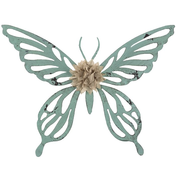 French Blue Butterfly Metal Wall Decor | Metal Flowers | Pinterest ...