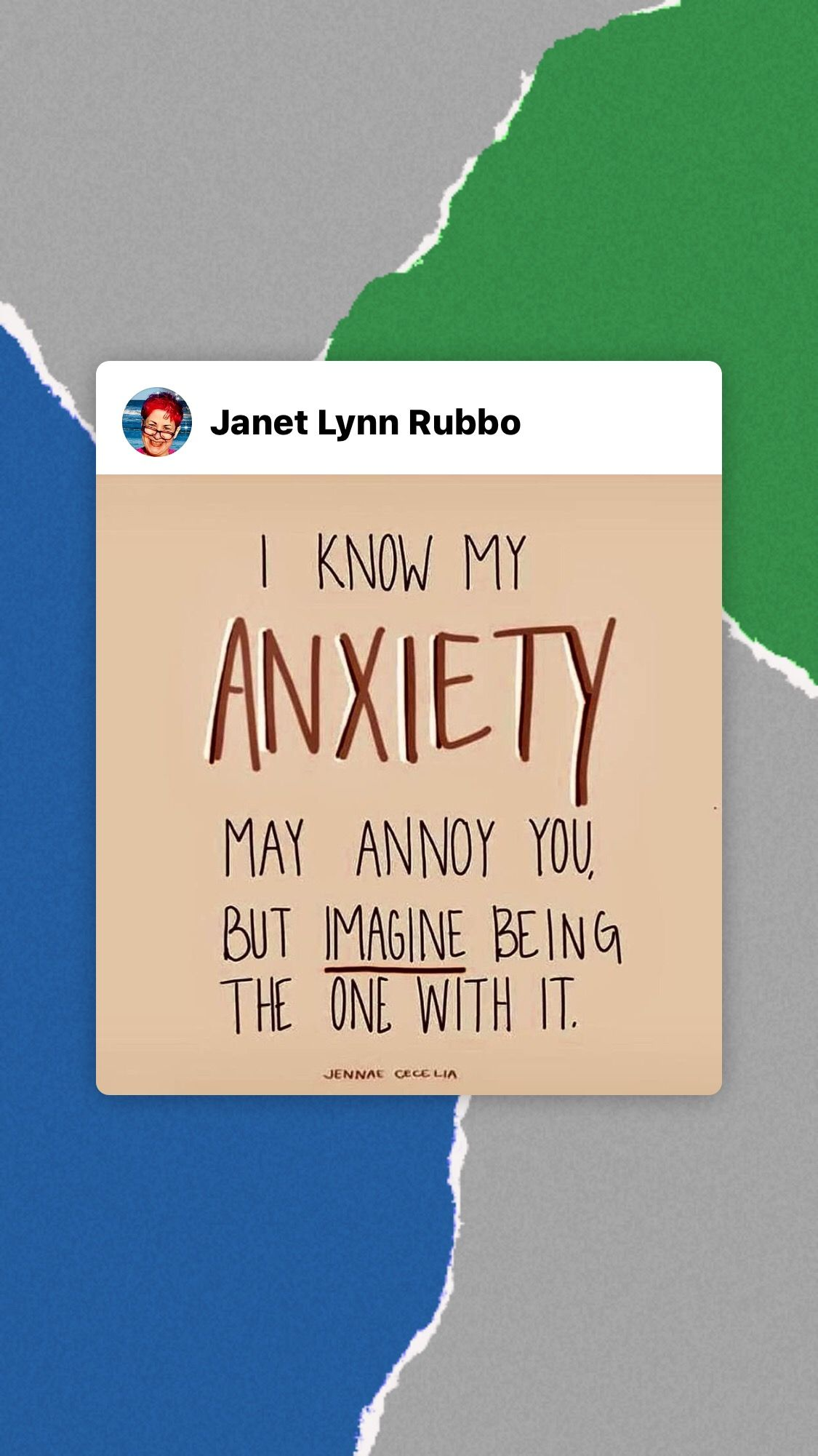 Mental Health Check Image By Janet Lynn Rubbo On Quotes
