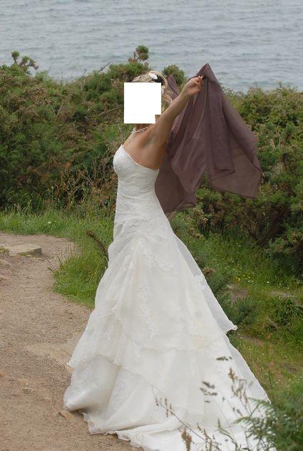 robe de marie ivoire jupon tole les maries daurlie robes de marie et articles de mariage doccasion pinterest - Etole Mariage Ivoire