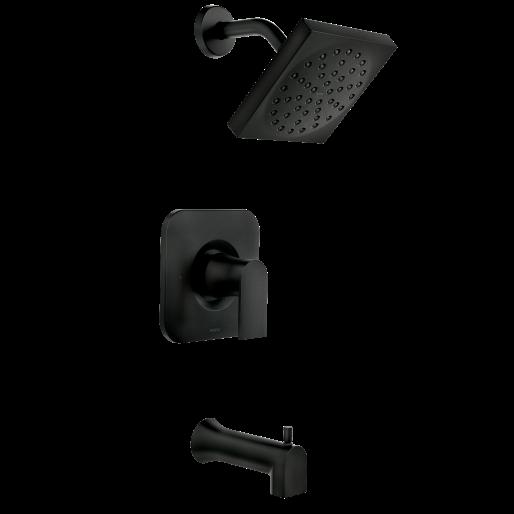 Genta Matte Black Tub Shower In 2020 Matte Black Bathroom Faucet Matte Black Bathroom Fixtures Black Faucet Bathroom