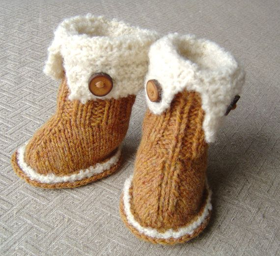 Knitting pattern Baby Booties quick and easy knitting tutorial for ...