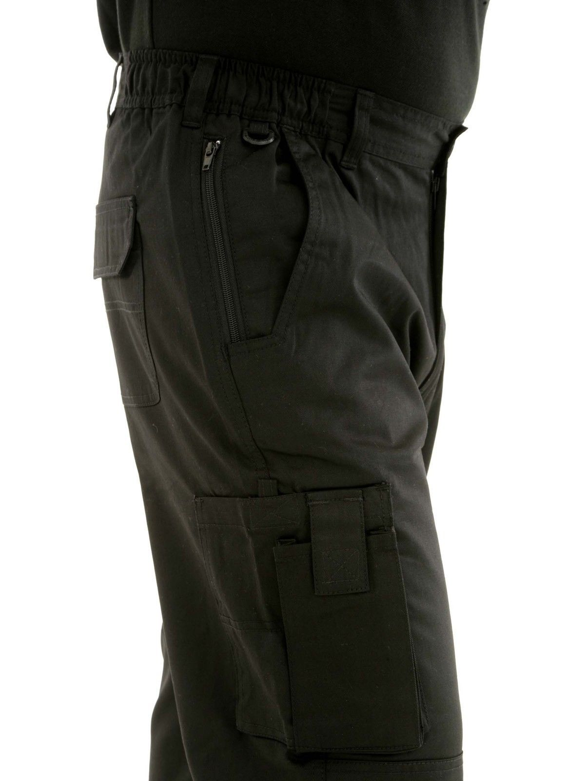Mens Combat Cargo Work Trousers Size 30 To 54 With Knee Pad Pockets