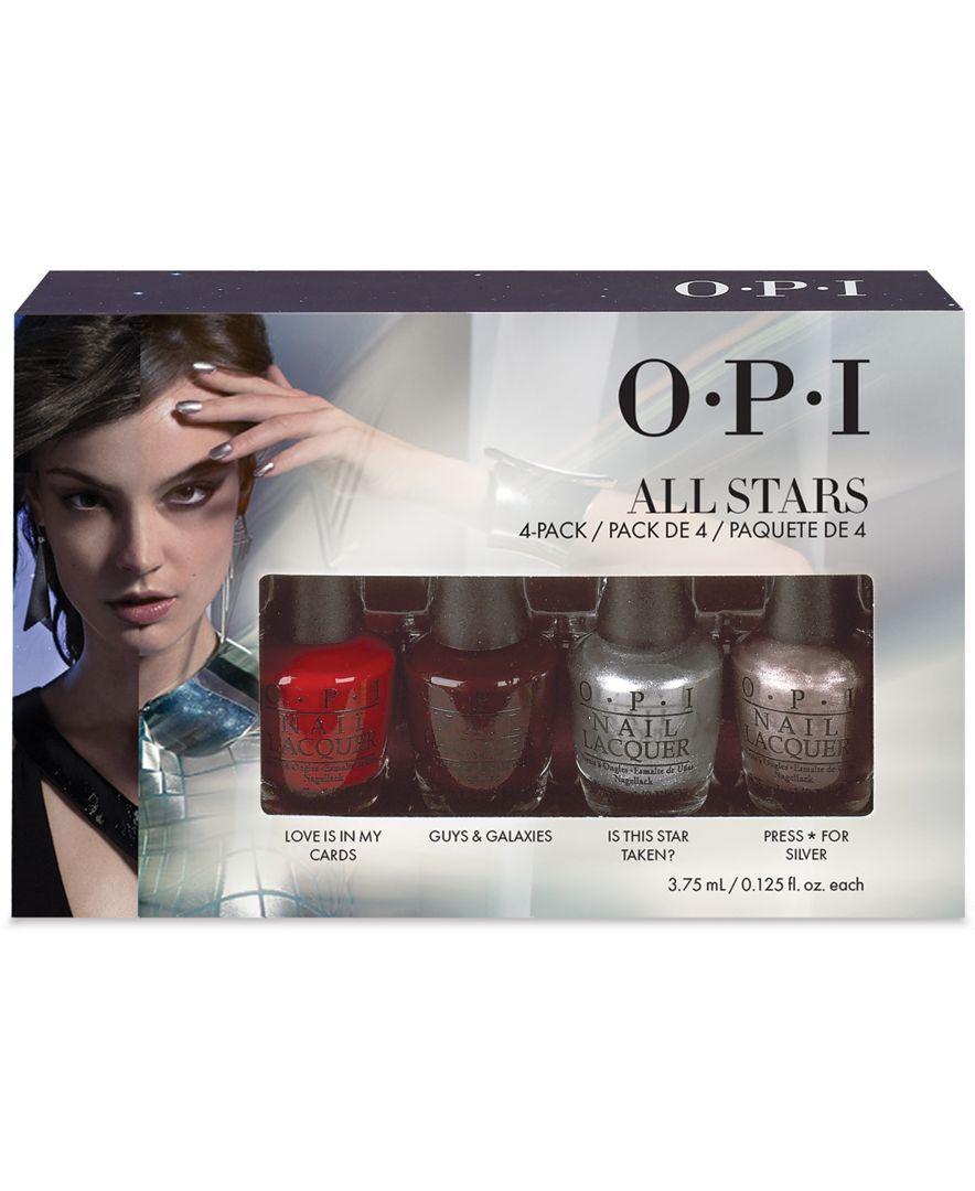 Opi All Stars Mini 4 Pack Opi Nails Cheap Nail Polish