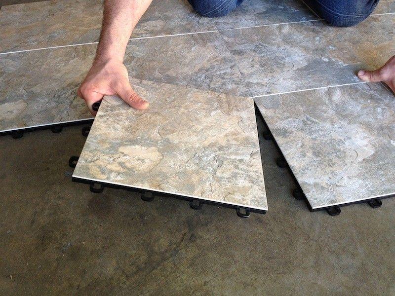 Basement Floor Tile Ideas slate laminate flooring - interlocking basement floor tiles - made