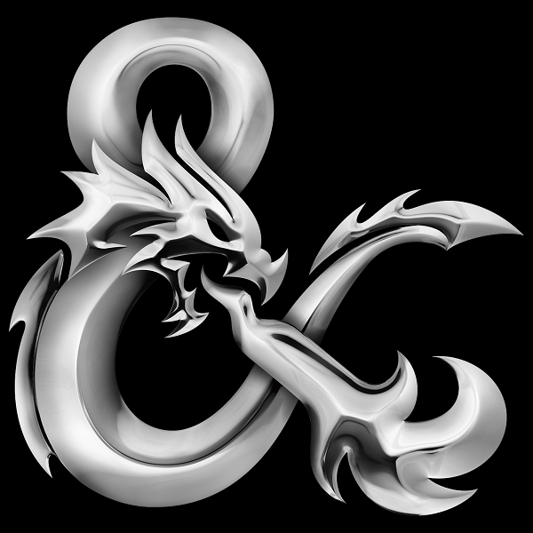 D D Symbol Google Search Dungeons And Dragons Ampersand Logo Grayscale Image