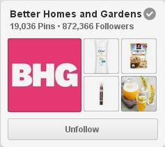 """(link) PINTEREST Profile:  @bhg · Everywhere · (says) """"Inspiring ideas for home, gardening, food, holidays, and living well. BHG--Life in Color."""" WEBSITE: bhg.com   ~ for more great PINs w/good links visit @djohnisee ~ have fun!"""