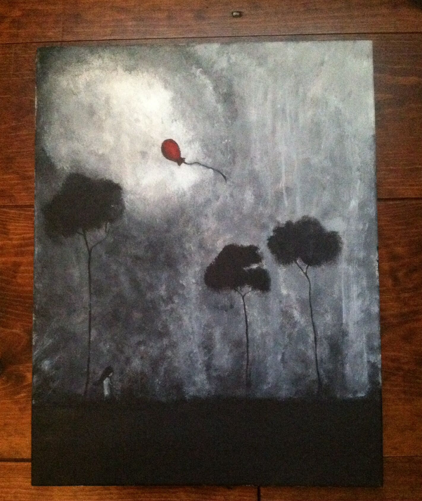 Depressing, symbolic acrylic canvas art   Canvas drawings ...