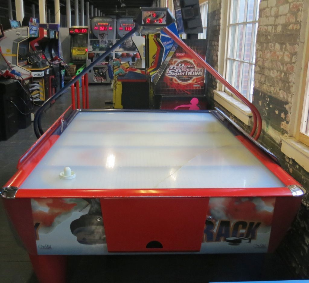 Fast Trak Wide Coin Operated Air Hockey Table Solid Works Available