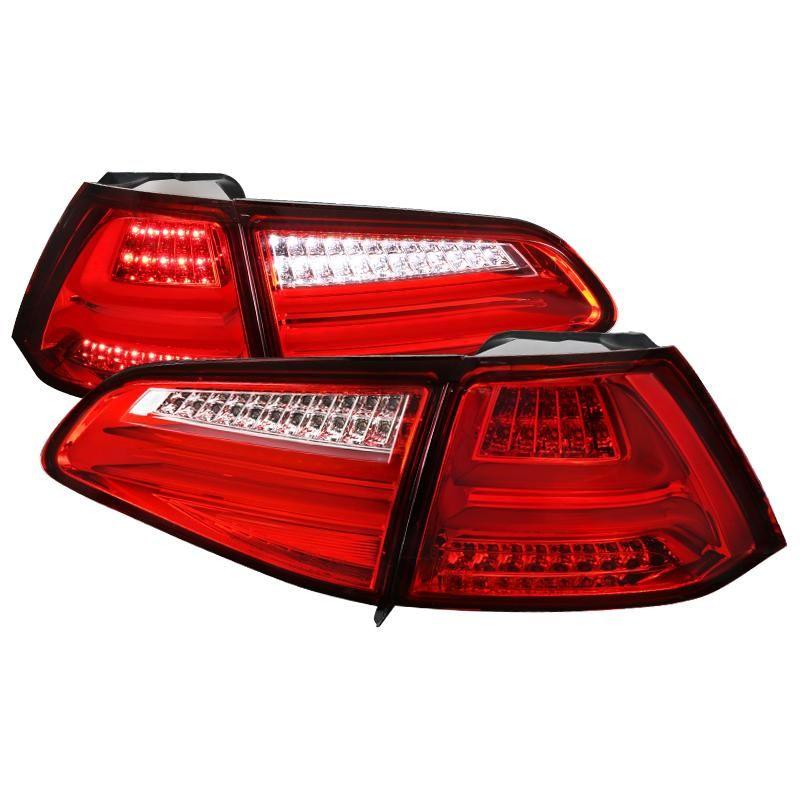 Spec D Led Tail Lights Vw Golf Gti Mk7 2015 2017 Smoke Red Or Clear Led Tail Lights Volkswagen Tail Light
