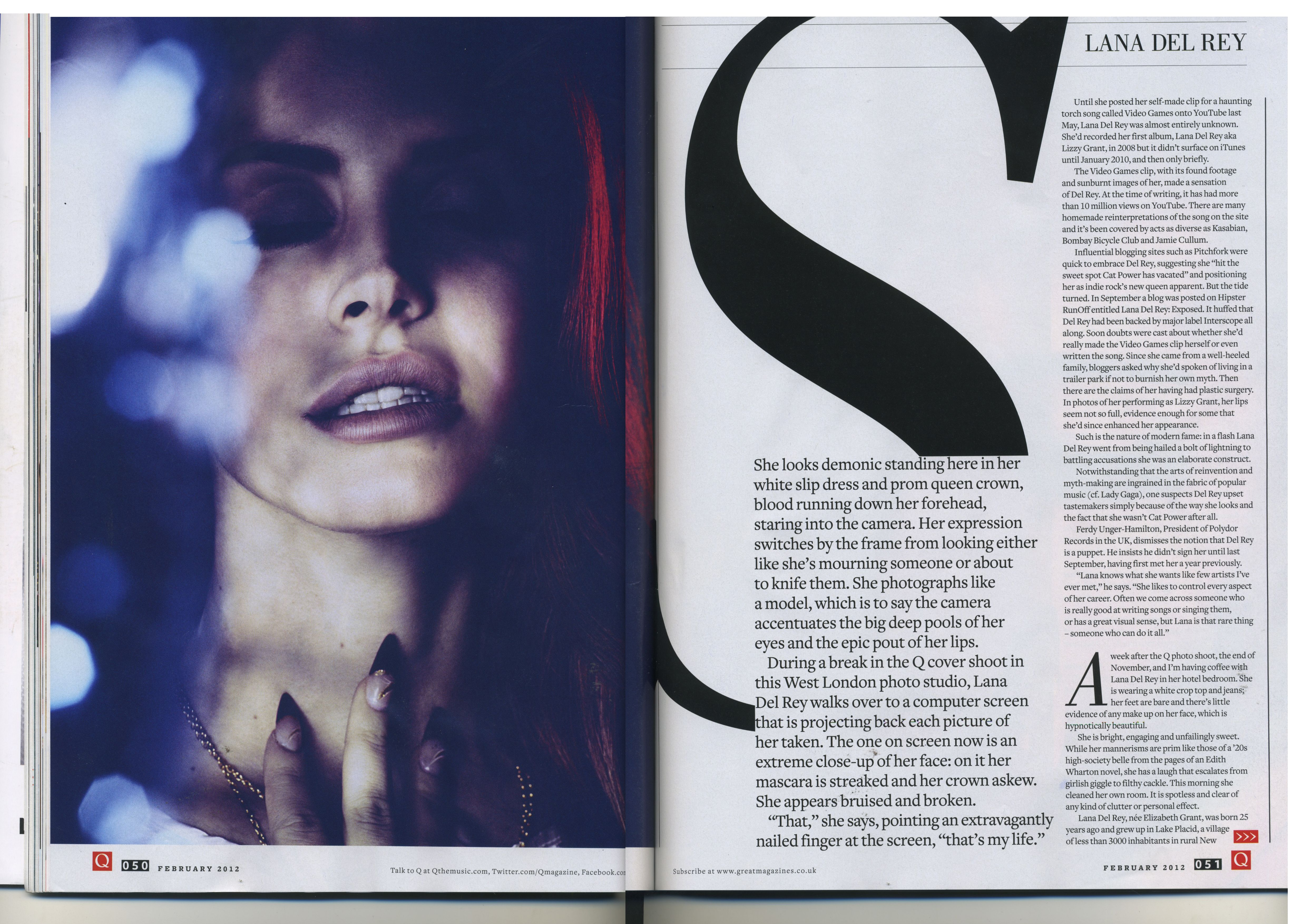 Double page spread magazine any more