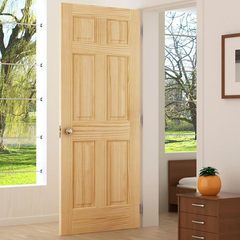 Colonial Solid Wood Panelled Pine Slab Interior Door Upstate House