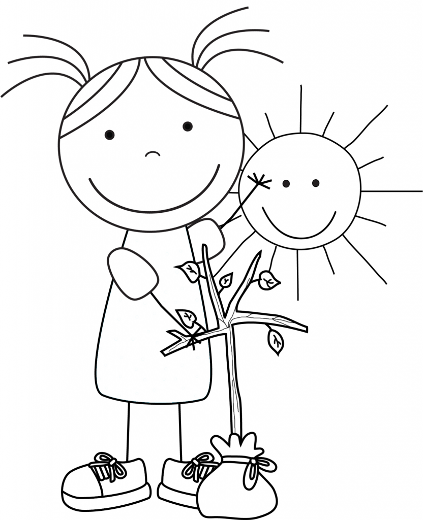 Coloring pages earth day - Kid Color Pages Earth Day For Girls