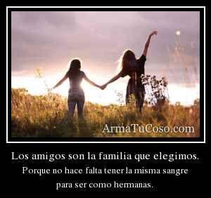 Los Amigos Son La Familia Que Uno Elige Buscar Con Google Imagenes De Amistad Los Amigos Son La Familia Amigas