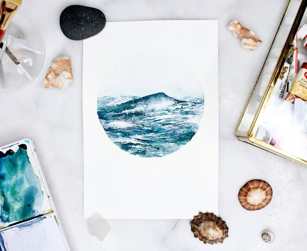Just Uploaded The Full Watercolor Tutorial On This Ocean Waves