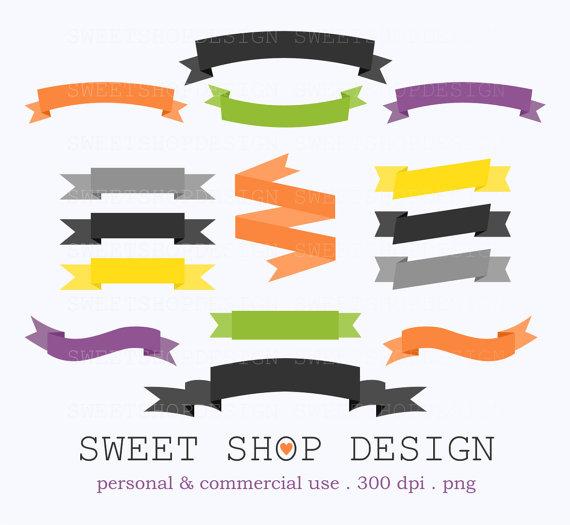 Ribbon Clip Art, Banner Clip Art, Border Clip Art, Digital Clip ...