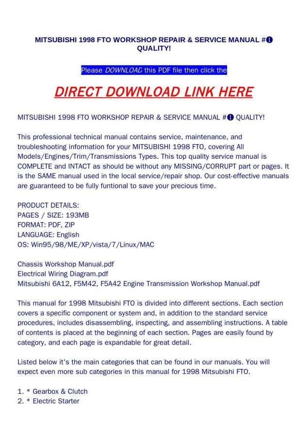 16 1998 Mitsubishi Fto Electrical Wiring Diagram Electrical Wiring Diagram Electrical Wiring Diagram