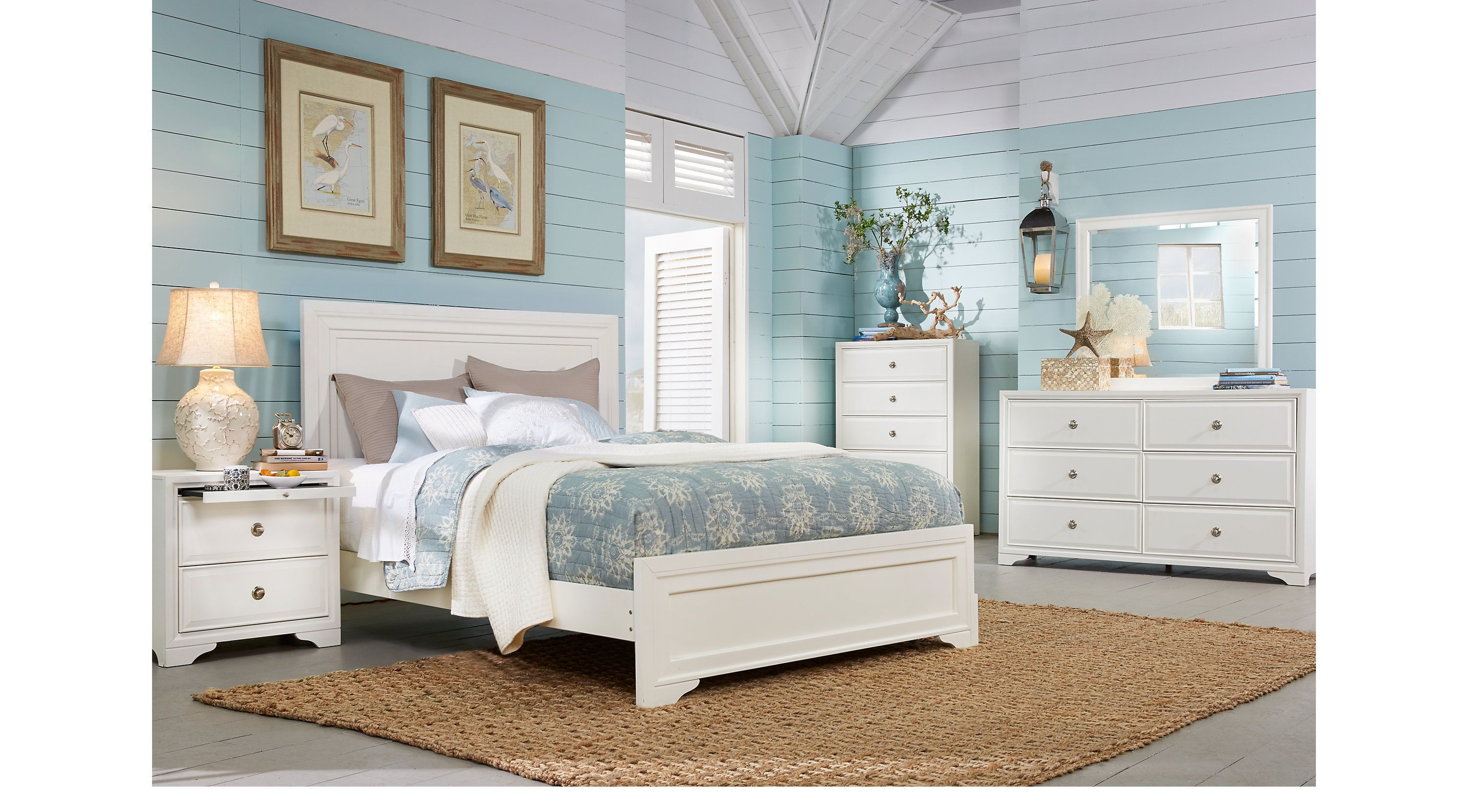 Queen Bedroom Sets Rooms To Go Belcourt White 5 Pc Queen Panel Bedroom 3105453p White Bedroom Set Bedroom Sets Queen Queen Sized Bedroom Sets