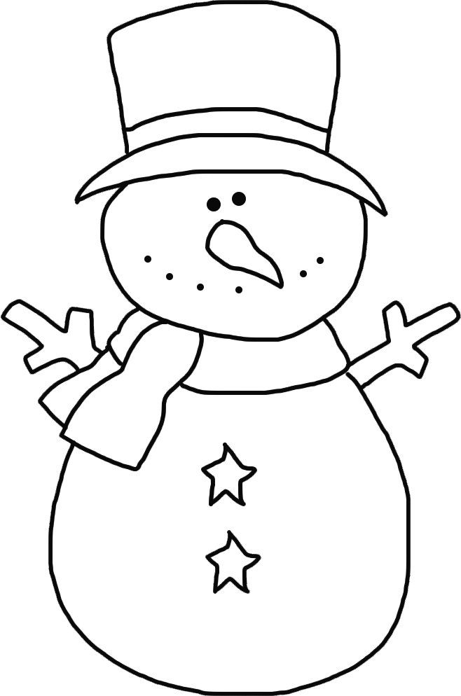 Starry Snowman Template OT Stuff Snowman christmas ornaments
