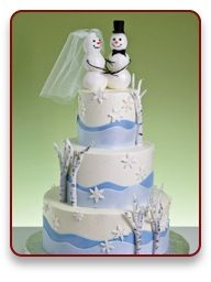 Cute and pretty at the same time. snowman cake