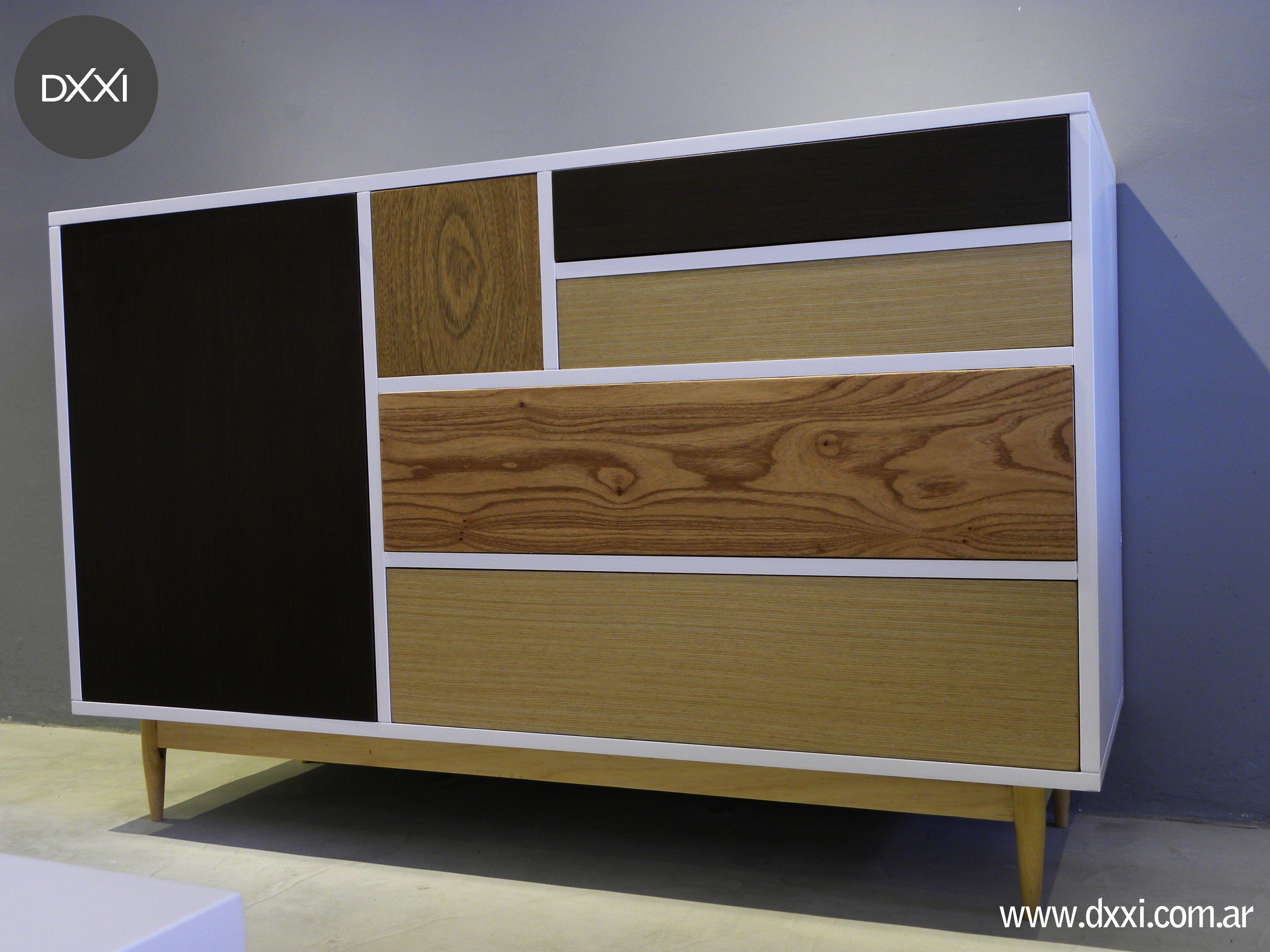 Comoda modelo Woddy. Estructura de apoyo de madera maciza Guatambu ...