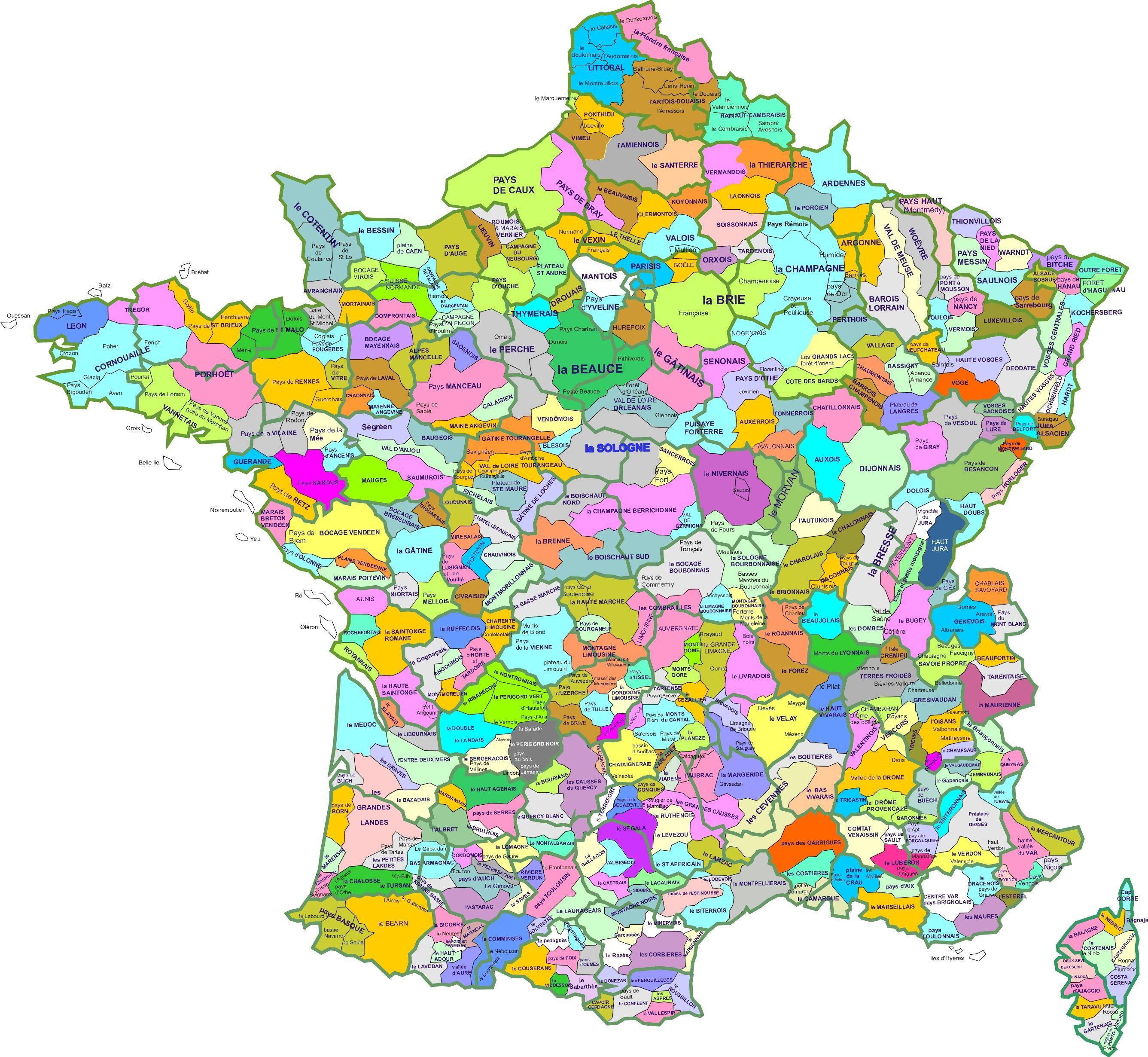 Carte Region Naturelle France La Boite Verte Carte Des Regions