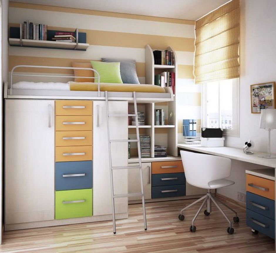 Cool loft bed ideas  Cool Loft Bed Design Ideas for Small Room  Beds  Pinterest  Bed