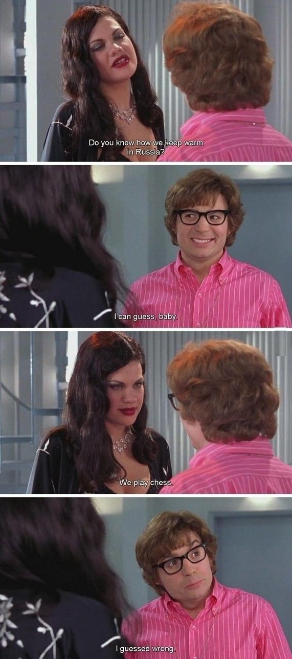 Image result for austin powers we play chess