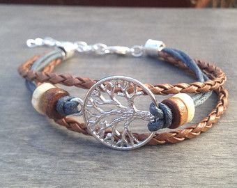 Tree Of Life Bracelet Celtic Bohemian Native American Inspired Tribal Irish Viking