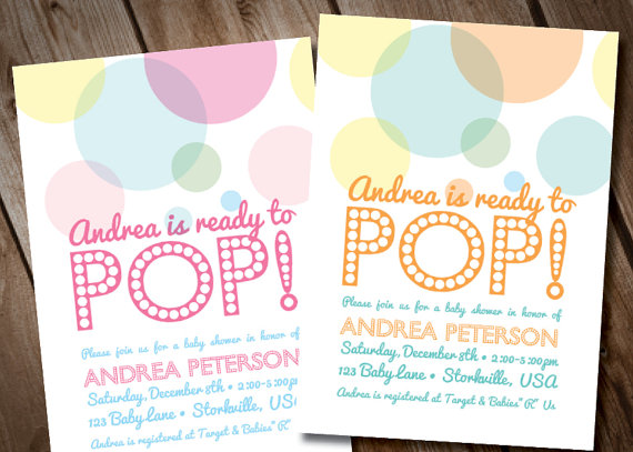 About To Pop Baby Shower Invitation Digital Invitation
