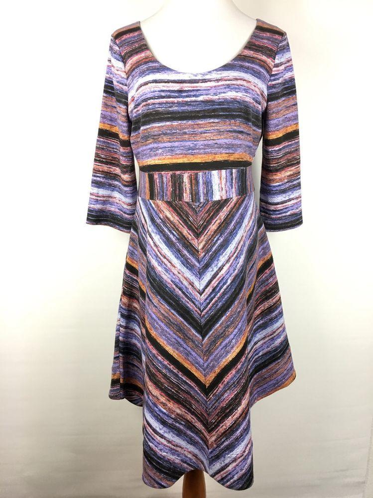Anthropologie Kebren Maeve Stripe Knit Dress Size Large RARE | eBay